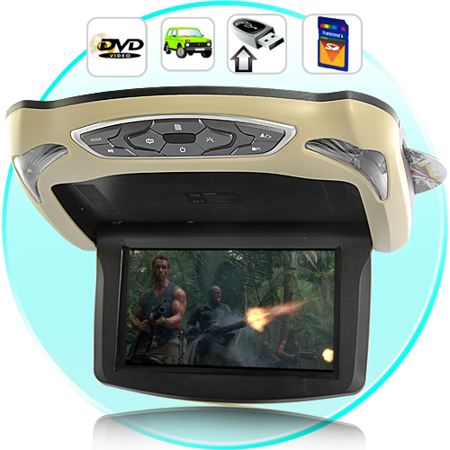 ecran plafonnier skylab dvd simulateur jeux manette 21cm usb sd gris beige ebay. Black Bedroom Furniture Sets. Home Design Ideas